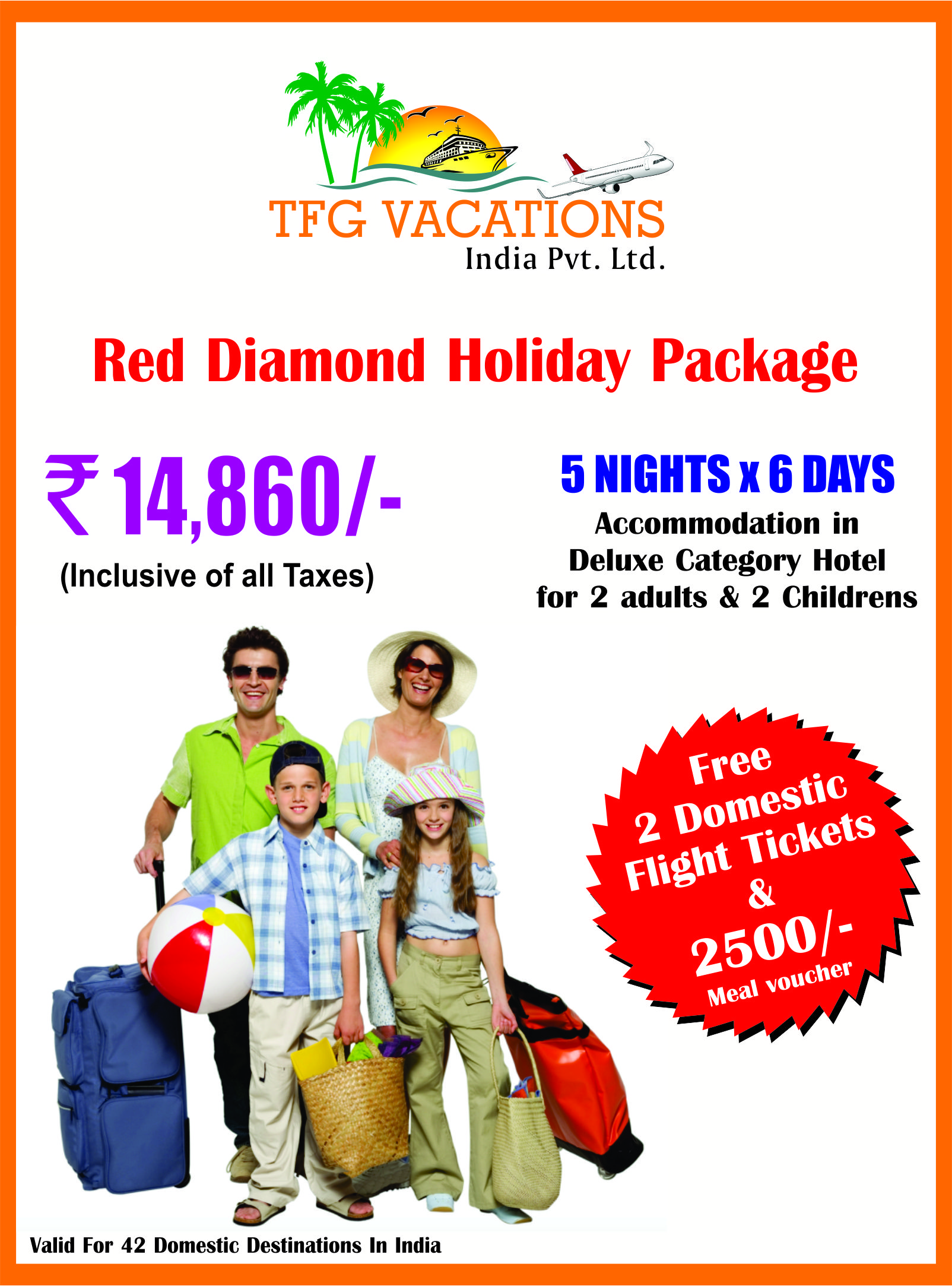 Red Diamond Holiday Package Tfg Holidays Pvt Ltd